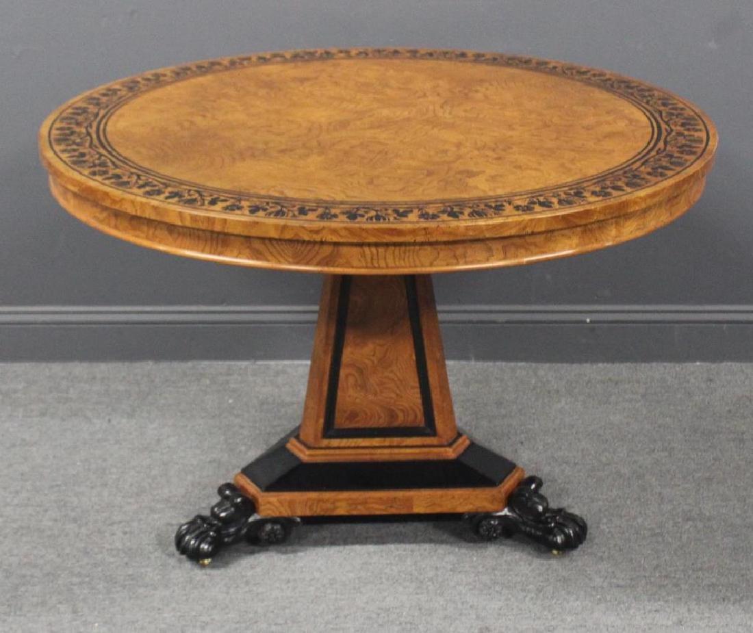 BAKER. Signed Yew Wood Ebonised and Inlaid Regency