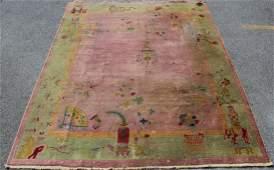 Art Deco Hand Woven Chinese Carpet.