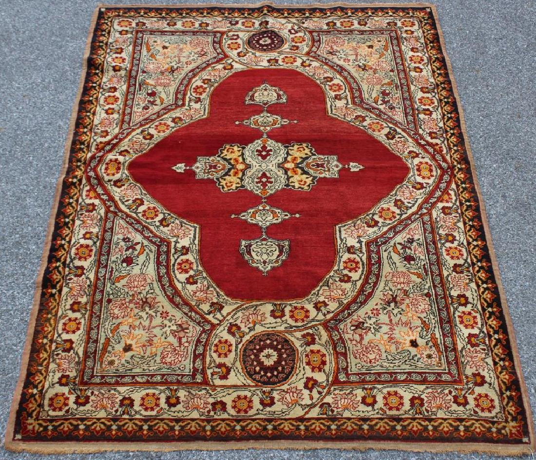 Antique and Finely Hand Woven Area Carpet .