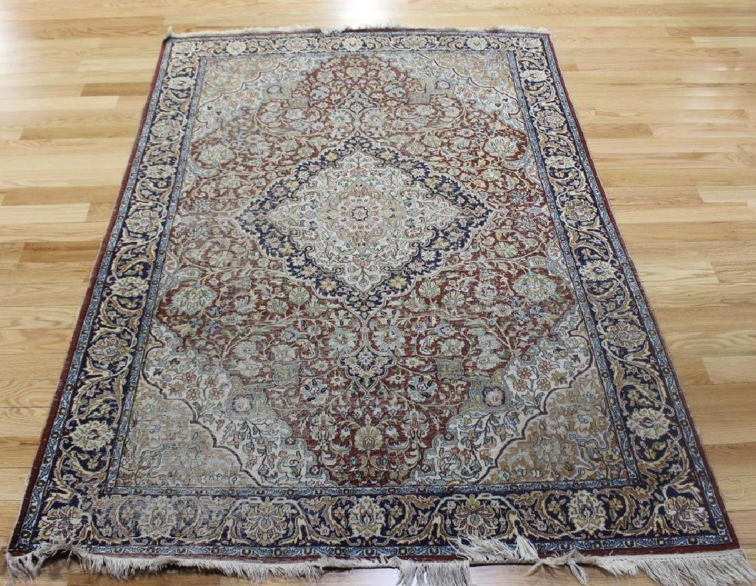 Antique and Finely Hand Woven Tabriz Area Carpet