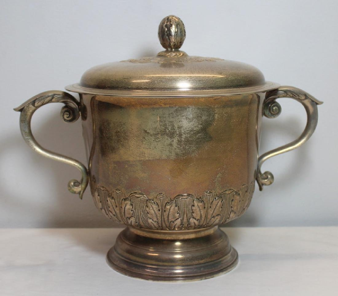 STERLING. Oversized Peter Guille Ltd. Caudle Cup