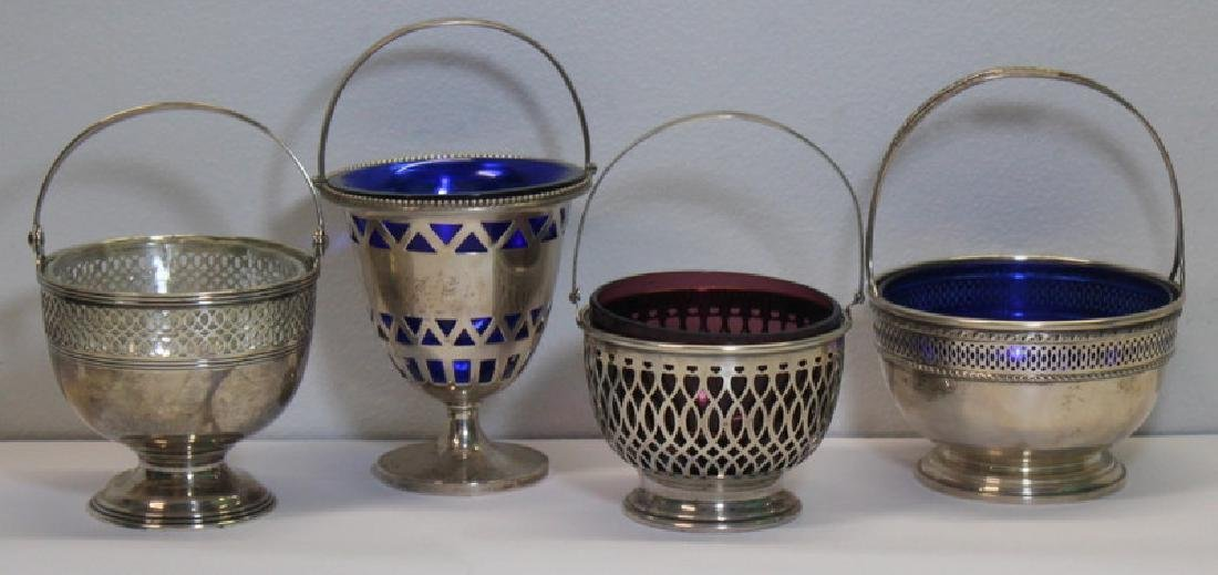 STERLING. Grouping of 4 American Sterling Baskets