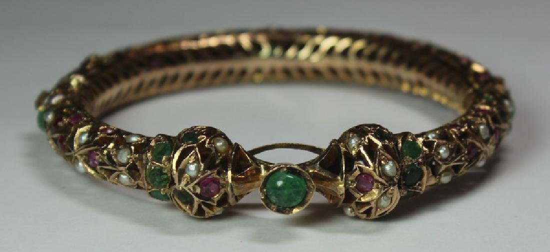 JEWELRY. Mughal or Rajasthani Style 14kt Gold