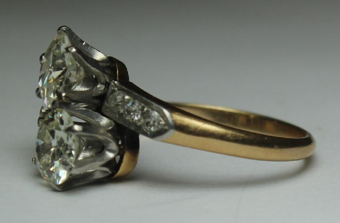 JEWELRY. GIA Cert. 14kt Gold and Diamond Ring. - 3