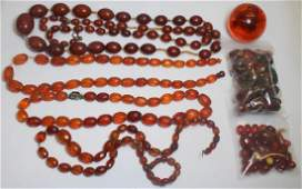 JEWELRY. Grouping of Antique/Vintage Amber Beads