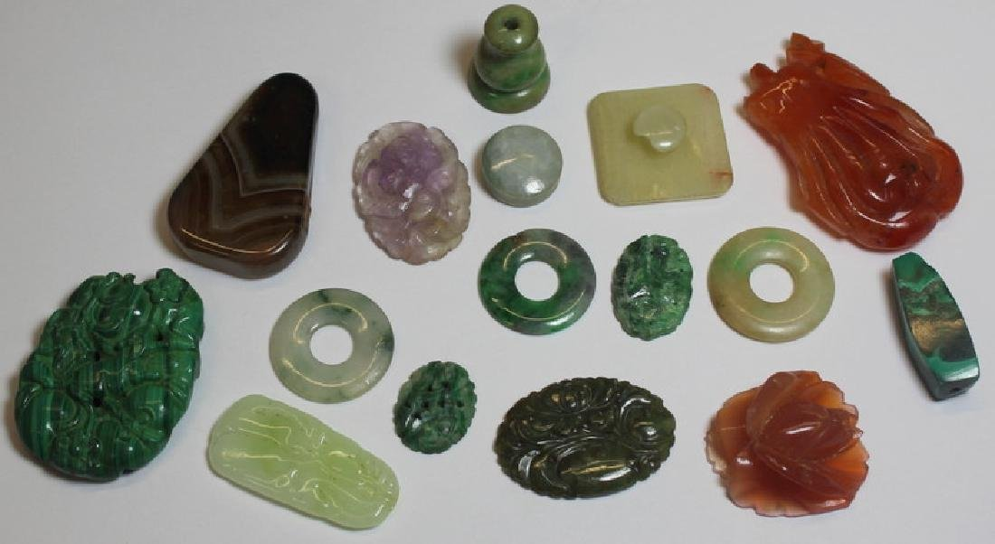 JEWELRY. Assorted Asian Jewelry and Carved Stone - 4