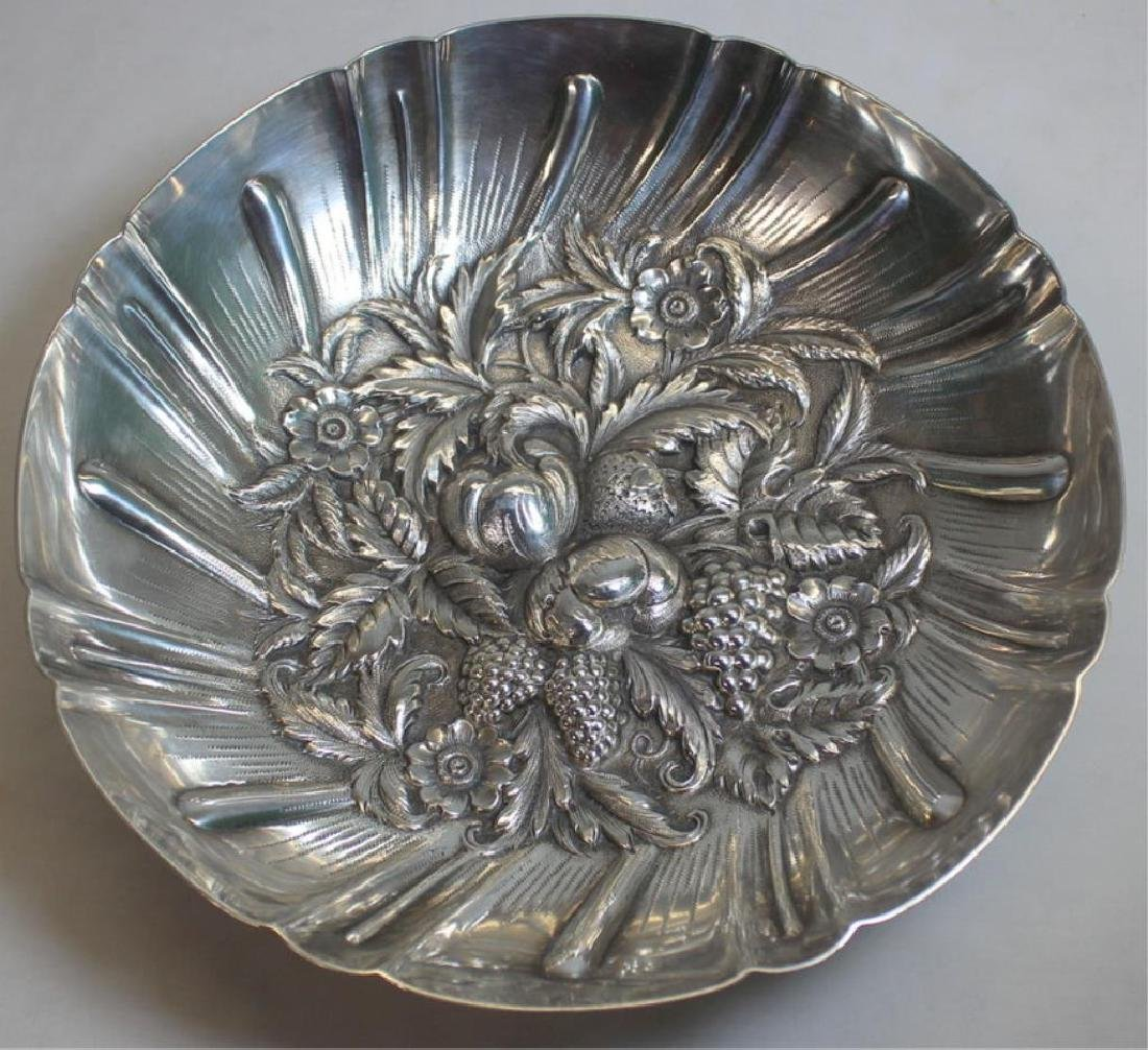 STERLING. S. Kirk Sterling Repousse Bowl.