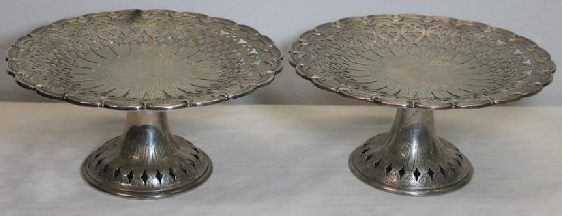 STERLING. Pair of Tiffany & Co. Sterling Tazzas.