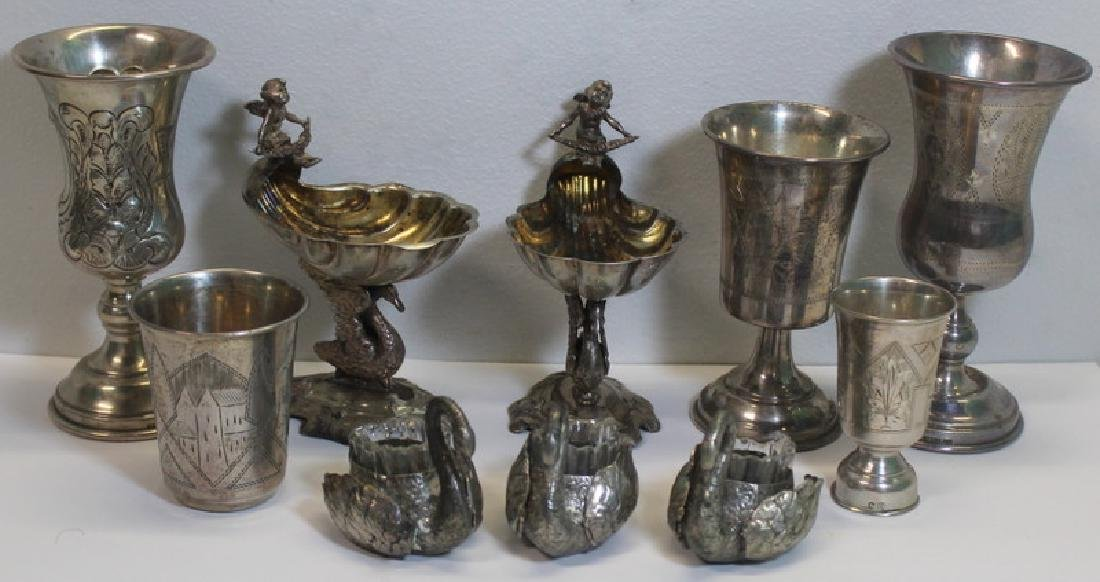 SILVER. Assorted Grouping of Continental Silver &