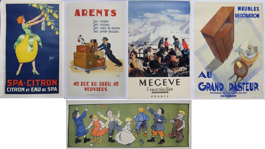 Lot of 6 Original Lithograph Posters.