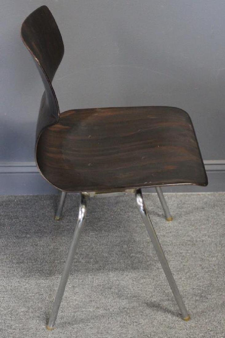 Set Of 4 Thonet Chrome and Laminate Chairs , - 3