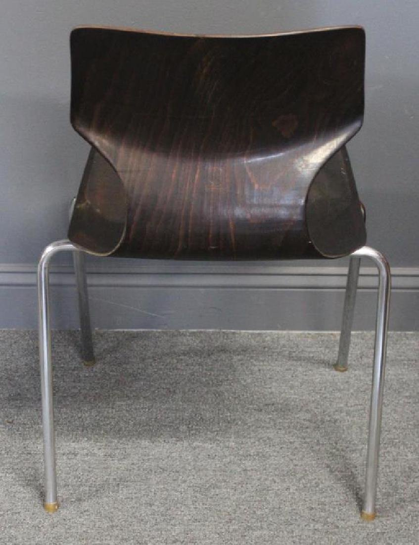 Set Of 4 Thonet Chrome and Laminate Chairs , - 4