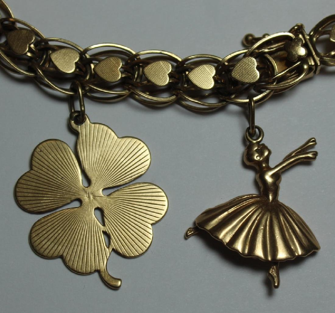 JEWELRY. 14kt Gold Charm Bracelet and 7 Charms. - 3