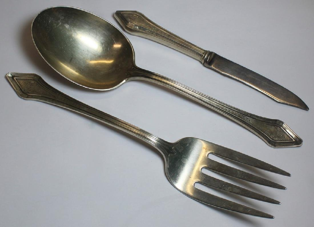 SILVER. Large Grouping of Assorted Flatware and - 12