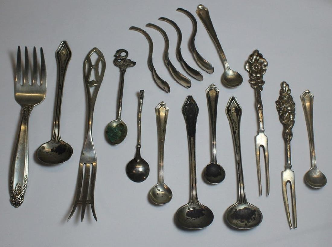 SILVER. Large Grouping of Assorted Flatware and - 13