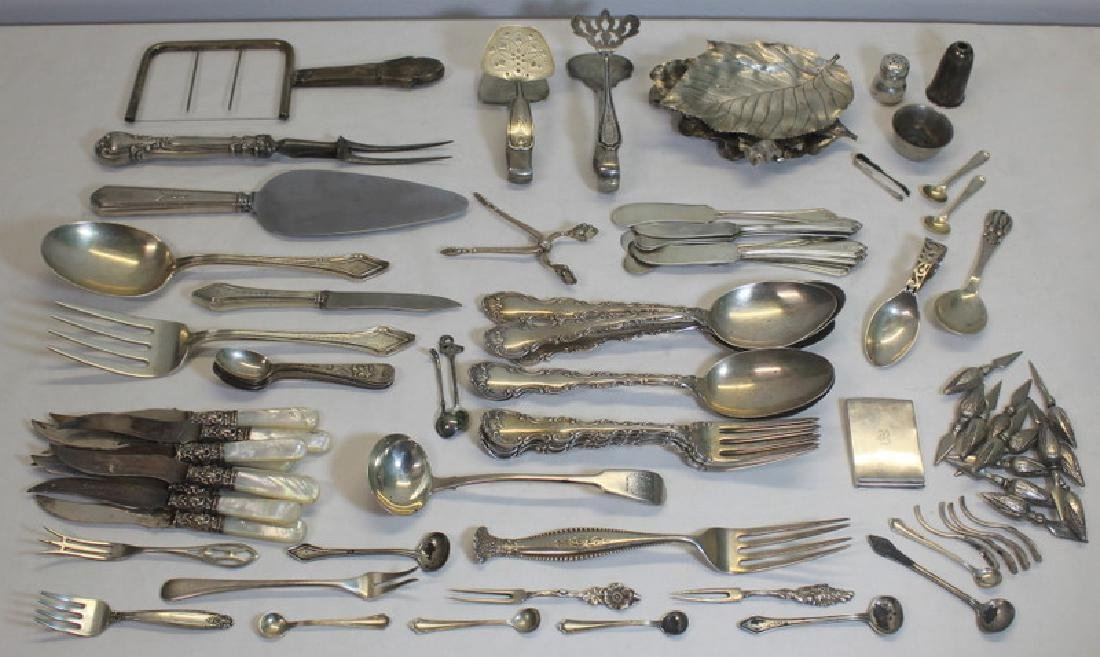 SILVER. Large Grouping of Assorted Flatware and