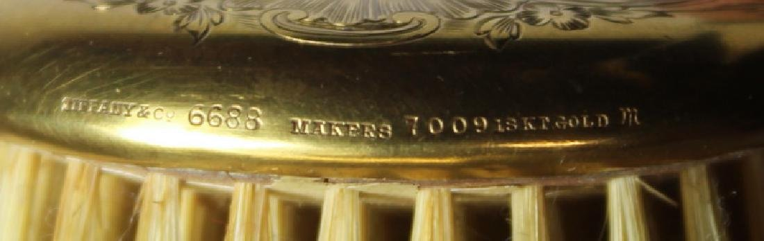 GOLD. Tiffany & Co. 18kt Gold Hair Brush. - 7