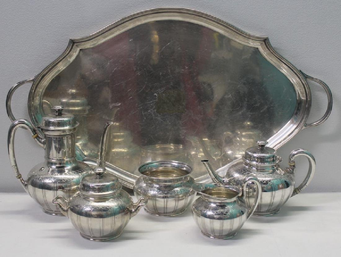 STERLING. Tiffany & Co. 5 Pc. Sterling Tea Service