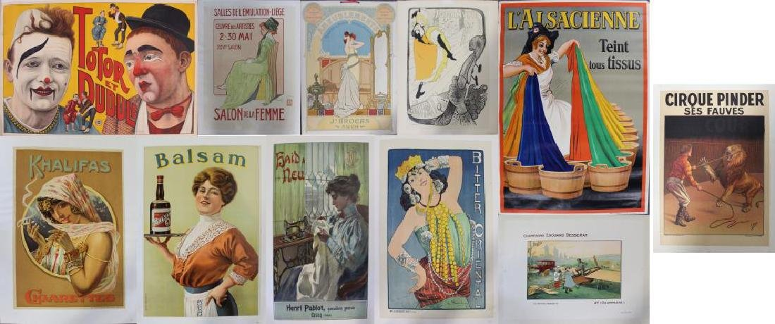 Lot of 11 Assorted Original Lithograph Posters.
