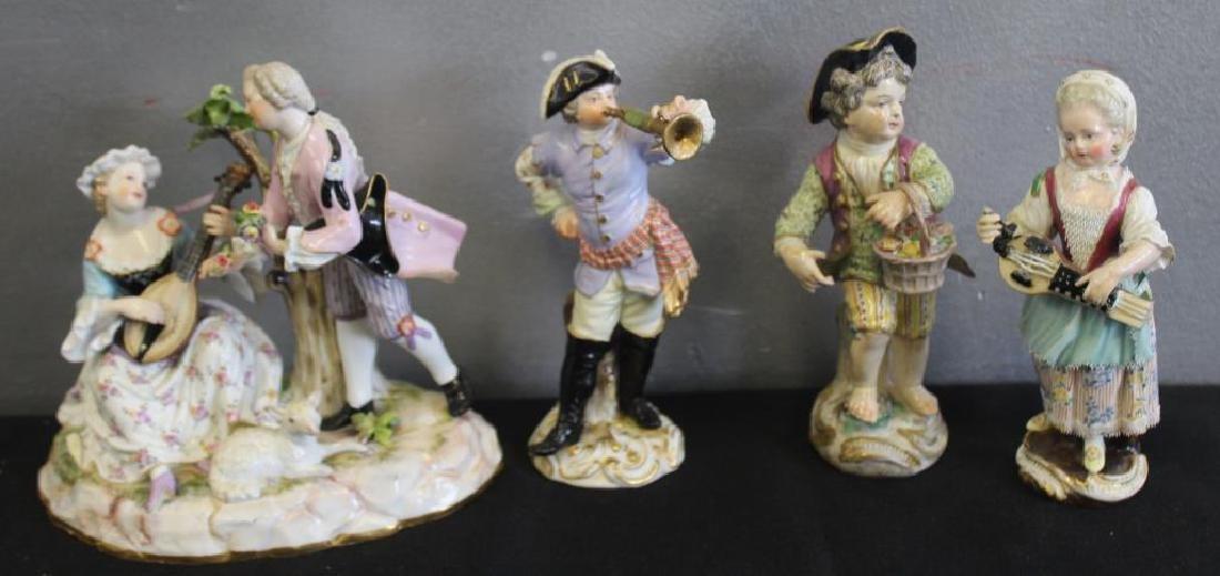 Group of 4 Antique Meissen Figures