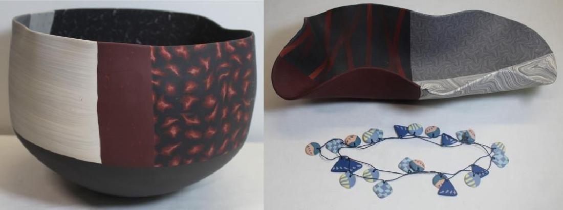 HOADLEY, Thomas. Colored Porcelain Grouping.