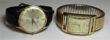 JEWELRY Vintage Mens Gold Watch Grouping