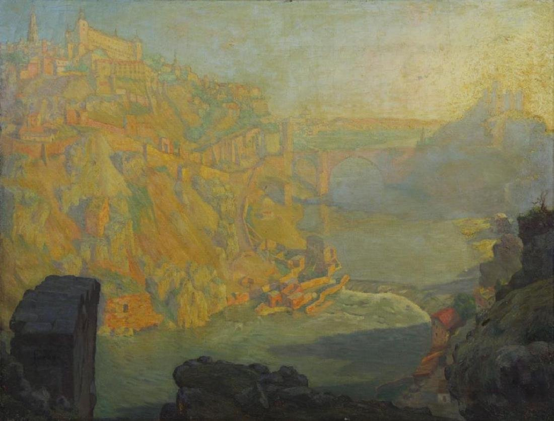 "FREDER, Frederick. Oil on Canvas ""Sunrise,"