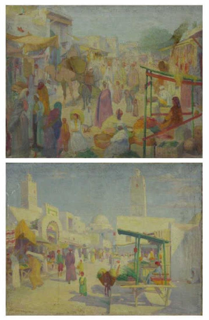 FREDER, Frederick. Two Oils on Canvas. Orientalist