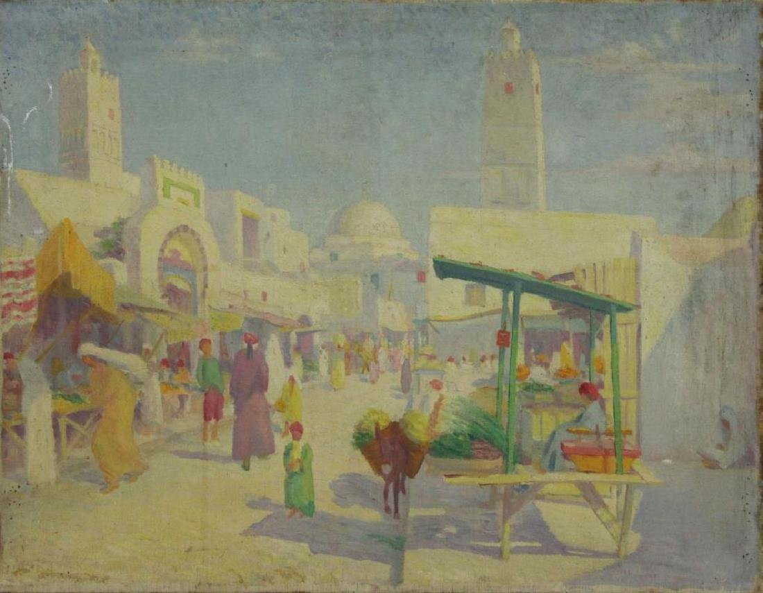 FREDER, Frederick. Two Oils on Canvas. Orientalist - 6