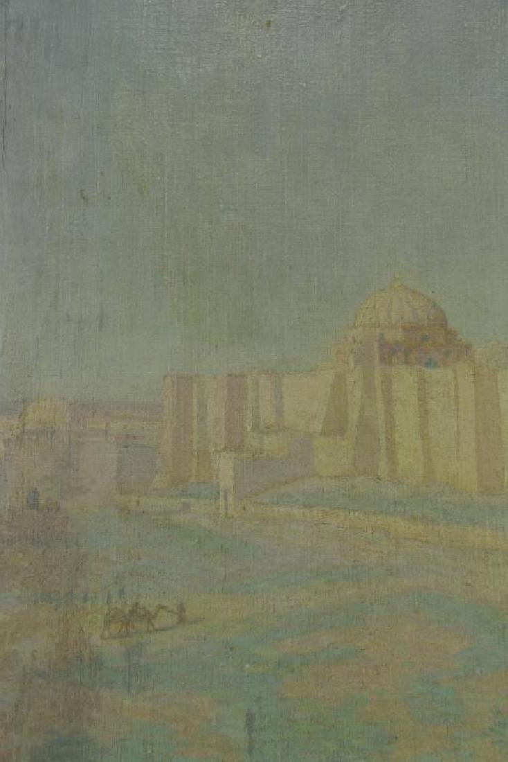 "FREDER, Frederick. Oil on Canvas. ""Mosque of Sidi - 4"
