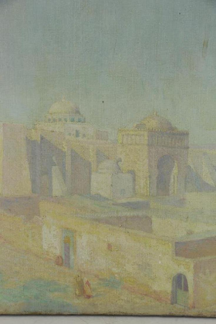 "FREDER, Frederick. Oil on Canvas. ""Mosque of Sidi - 6"