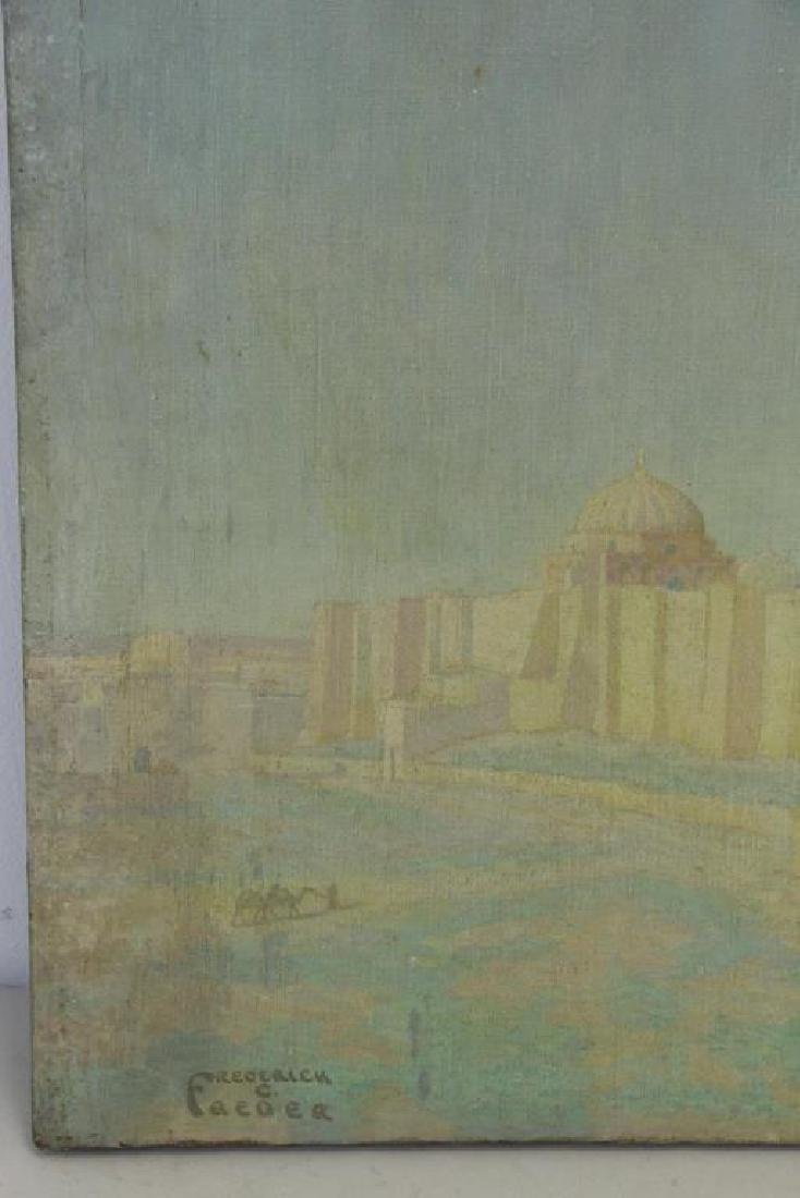 """FREDER, Frederick. Oil on Canvas. """"Mosque of Sidi - 7"""