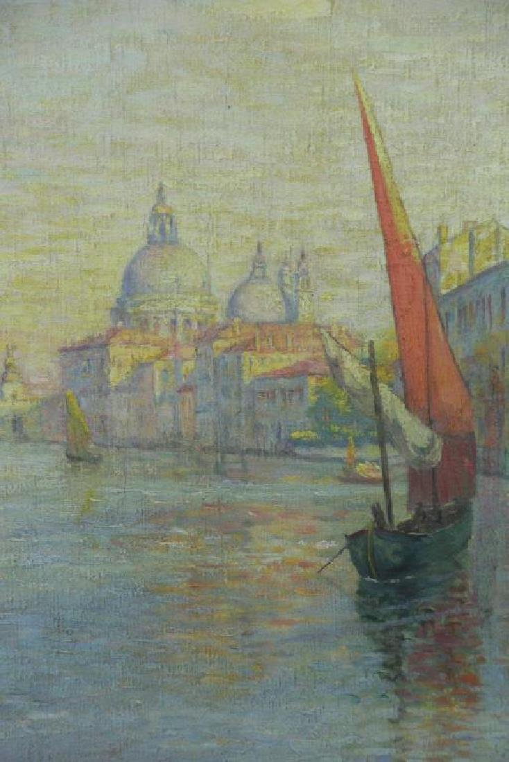 """FREDER, Frederick. Oil on Canvas. """"Grand Canal, - 3"""