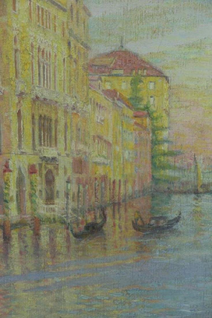 """FREDER, Frederick. Oil on Canvas. """"Grand Canal, - 4"""