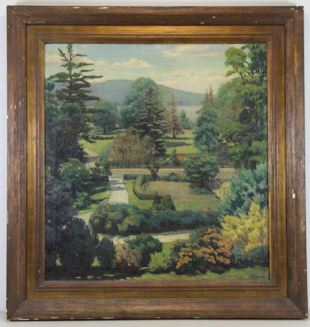 FREDER, Frederick. Oil on Canvas. Landscape with - 2