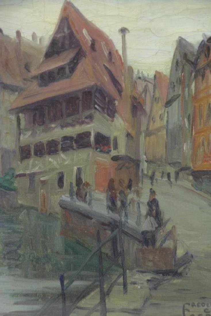 """FREDER, Frederick. Oil on Canvas. """"The Tannery, - 3"""
