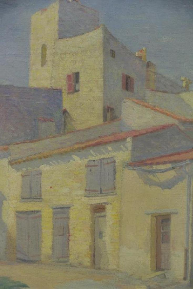 """FREDER, Frederick. Oil on Canvas. """"Old Houses, - 3"""