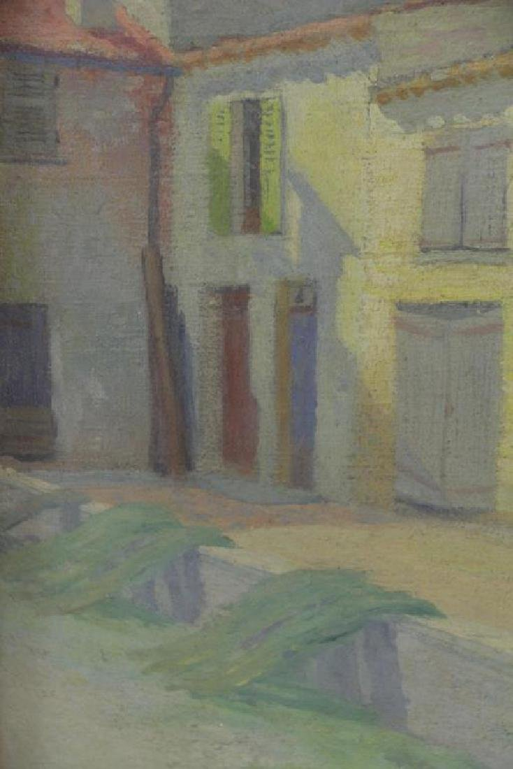 "FREDER, Frederick. Oil on Canvas. ""Old Houses, - 5"