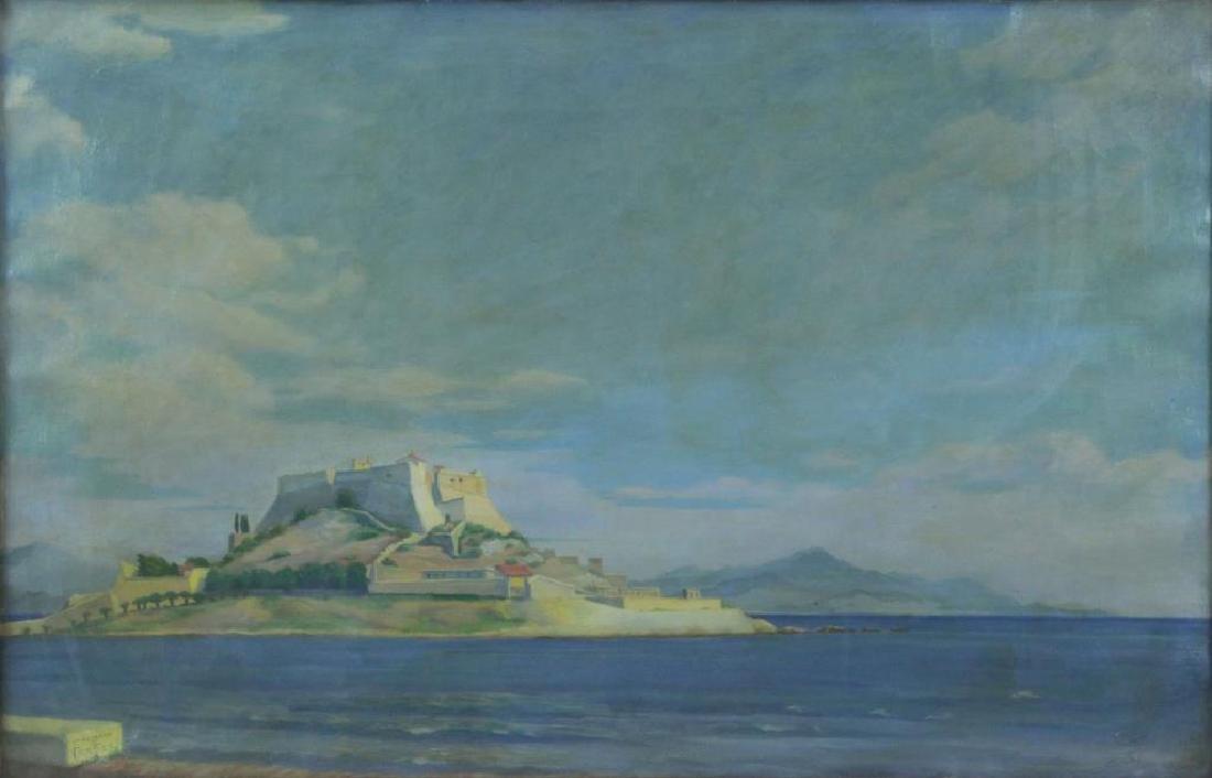 """FREDER, Frederick. Oil on Canvas. """"La Cote"""