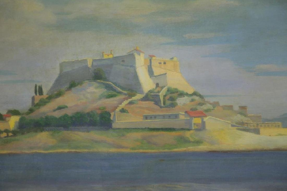 """FREDER, Frederick. Oil on Canvas. """"La Cote - 3"""