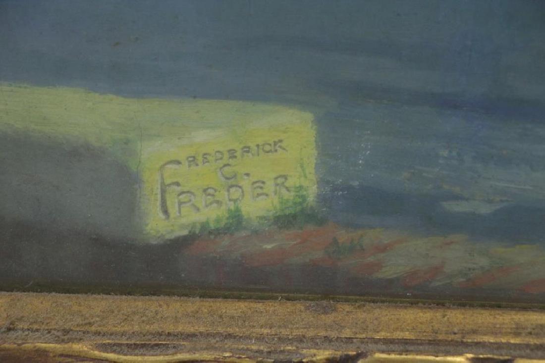 """FREDER, Frederick. Oil on Canvas. """"La Cote - 5"""