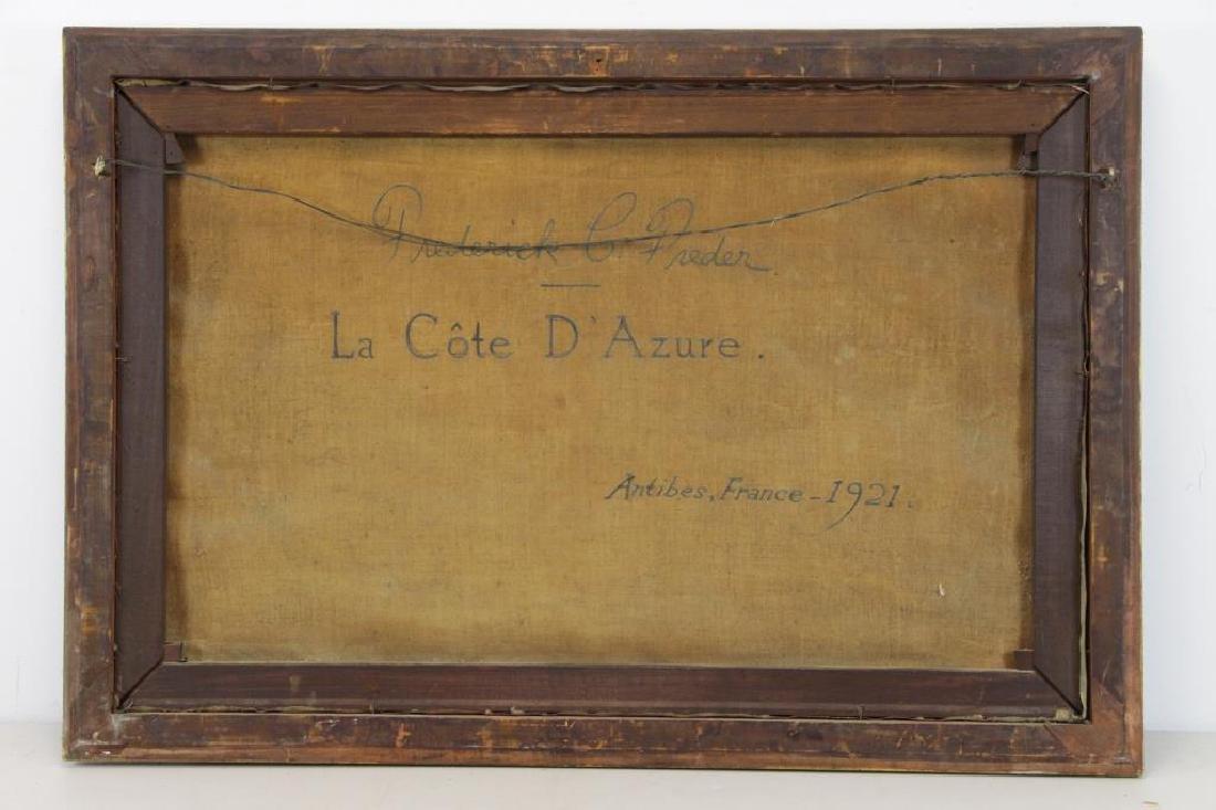 """FREDER, Frederick. Oil on Canvas. """"La Cote - 7"""