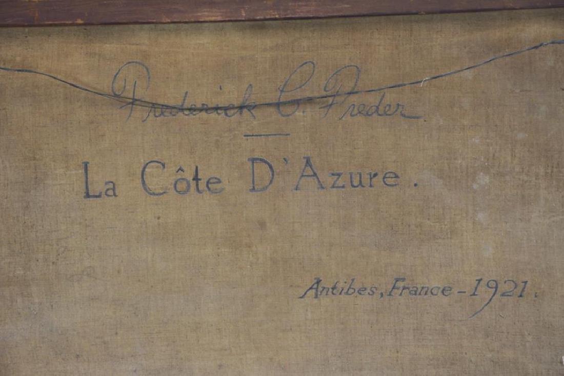 """FREDER, Frederick. Oil on Canvas. """"La Cote - 8"""