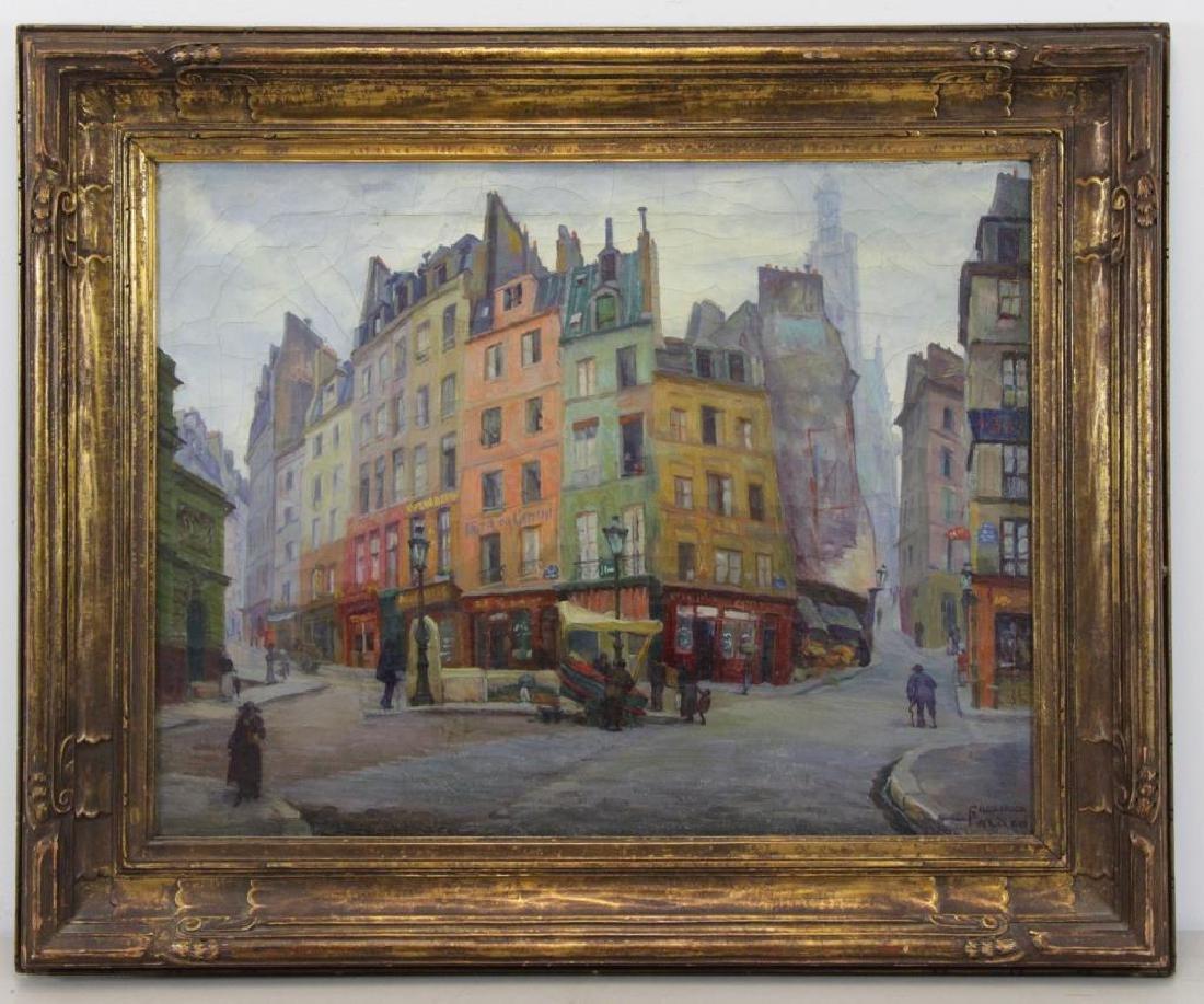 "FREDER, Frederick. Oil on Canvas. ""Old Paris"" - 2"