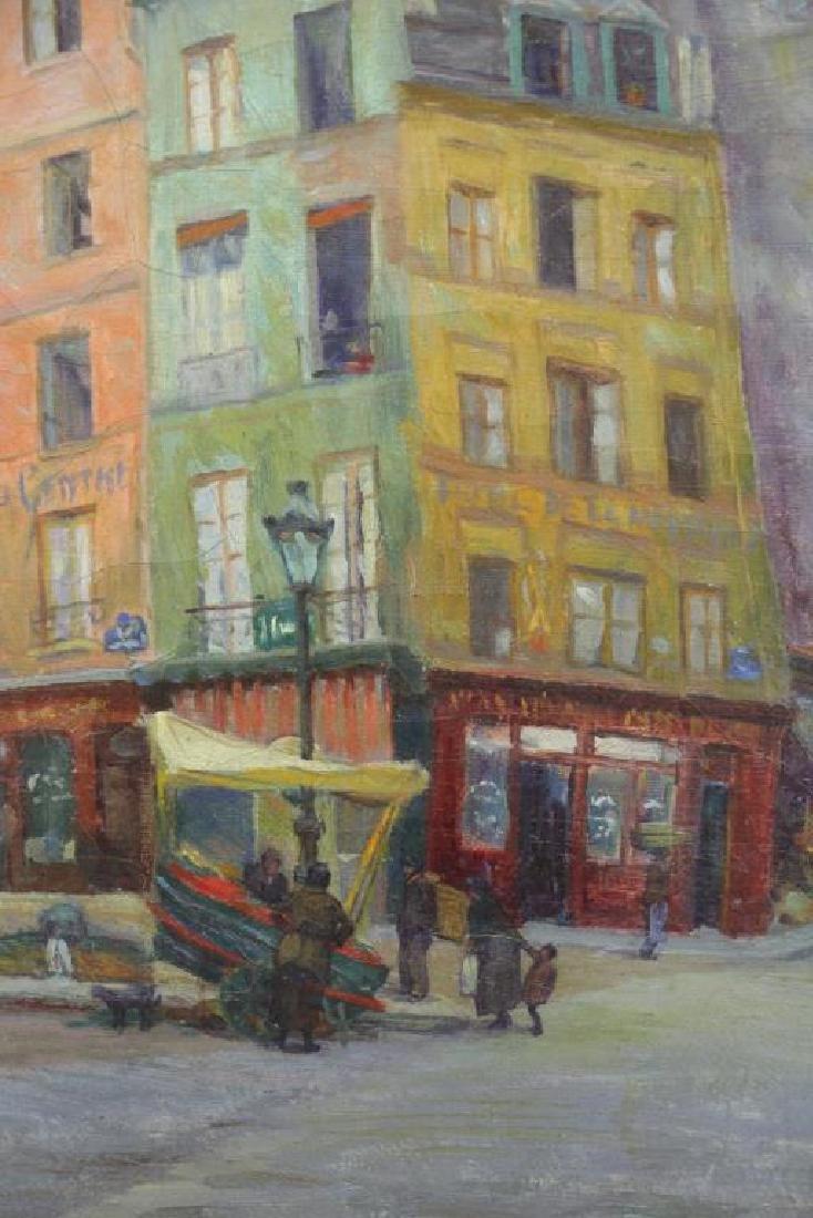"FREDER, Frederick. Oil on Canvas. ""Old Paris"" - 3"