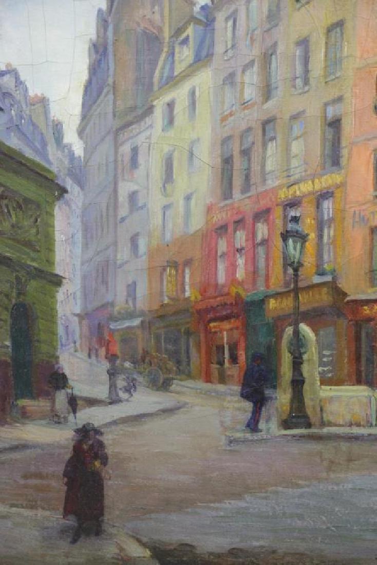 "FREDER, Frederick. Oil on Canvas. ""Old Paris"" - 4"