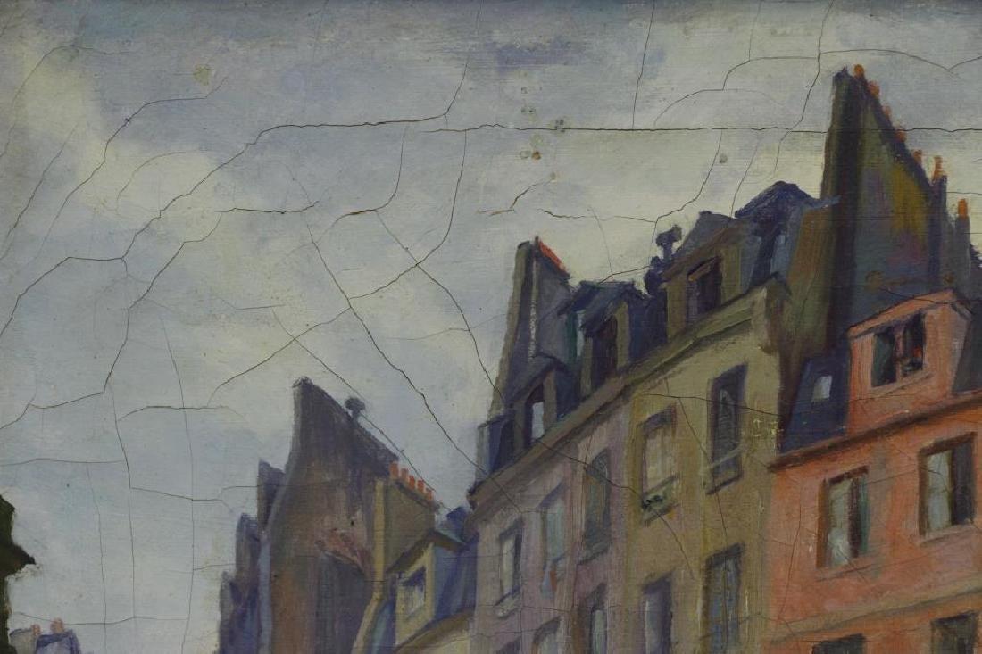 "FREDER, Frederick. Oil on Canvas. ""Old Paris"" - 5"