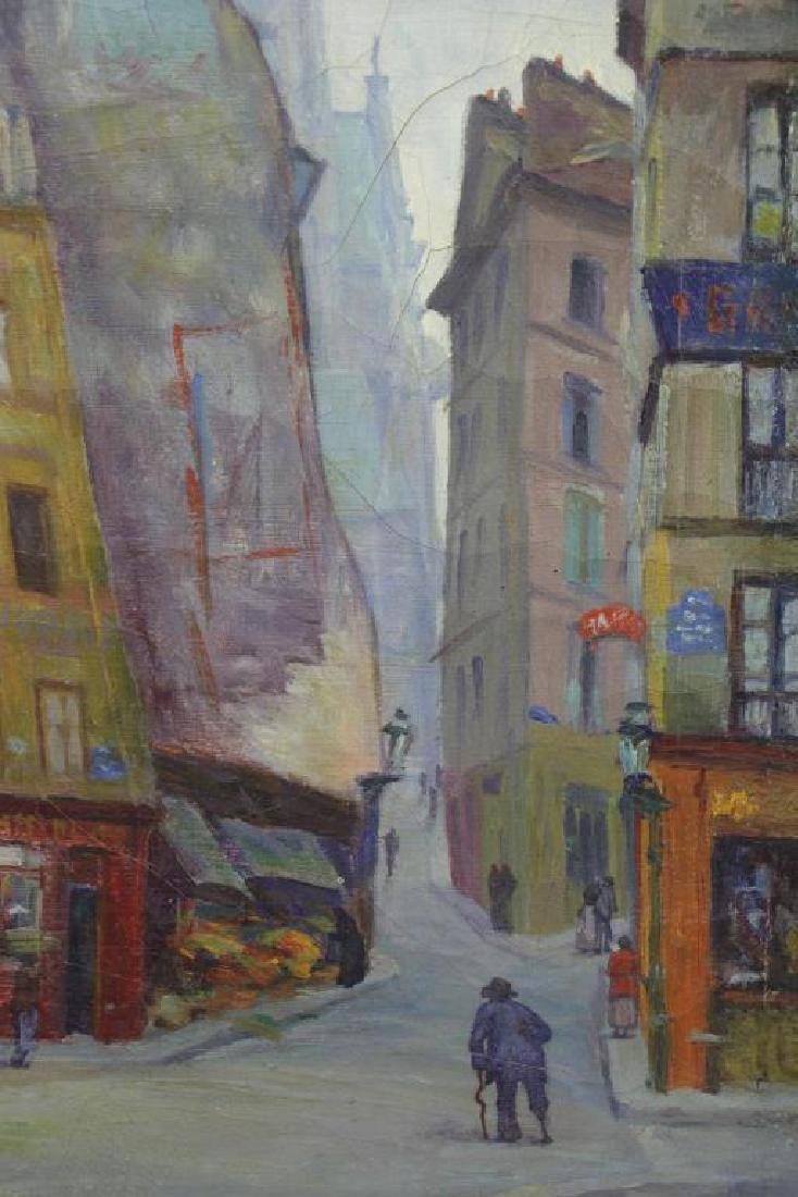 "FREDER, Frederick. Oil on Canvas. ""Old Paris"" - 6"