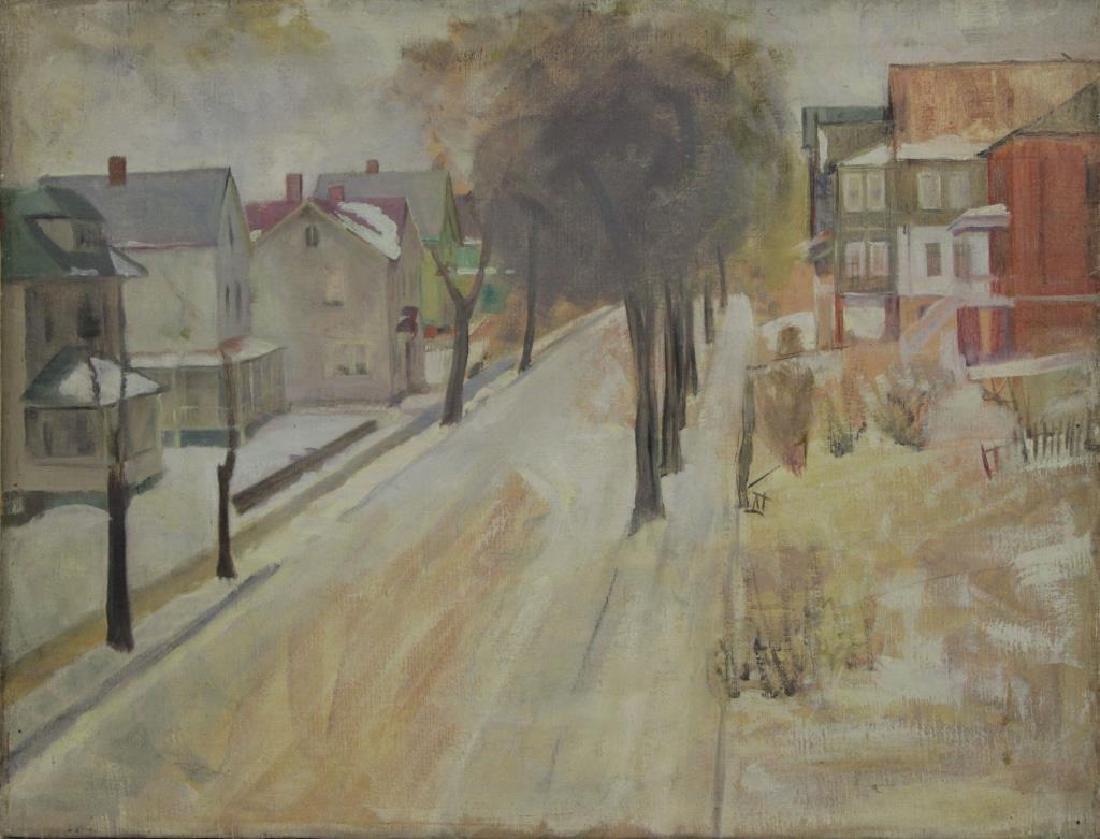 FREDER, Frederick. Four Oil on Canvas Landscapes. - 10