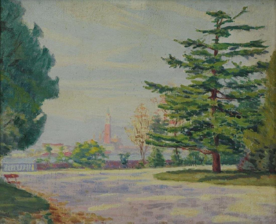FREDER, Frederick. Four Oil on Canvas Landscapes. - 3